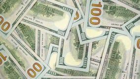 Muchos dólares están girando Fondo de giro del dinero Hape de un torneado del efectivo metrajes