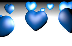 Muchos de corazones encendido imagenes de archivo