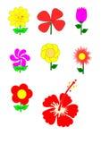 Muchos del vector de la flor Foto de archivo libre de regalías