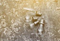 Muchos diversos tipos de bulbos incandescentes Fotografía de archivo libre de regalías