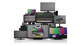 Muchos diversos tipos de pantallas sin señal stock de ilustración