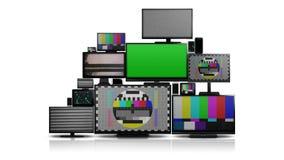 Muchos diversos tipos de pantallas sin señal ilustración del vector