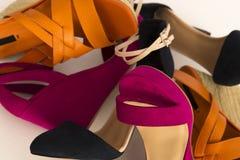 Muchos diversos zapatos Foto de archivo