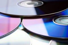 Muchos DVD Imagen de archivo libre de regalías