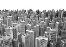 Muchos edificios modernos Imagen de archivo