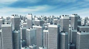 Muchos edificios modernos Fotografía de archivo