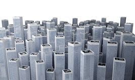 Muchos edificios modernos Imagenes de archivo
