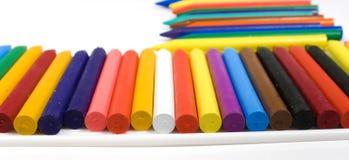 Muchos enceran los lápices fotos de archivo
