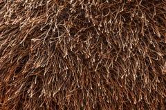 Muchos extremos enredados de lanas artificiales marrones roscan Fotos de archivo libres de regalías