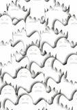 Muchos fantasmas blancos stock de ilustración