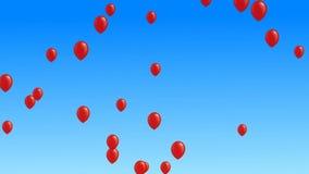 Muchos globos coloridos que vuelan en el aire metrajes