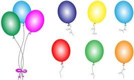 Muchos globos de diverso color Foto de archivo libre de regalías