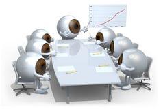 Muchos globos del ojo que se encuentran alrededor de la tabla Fotografía de archivo