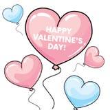 Muchos globos en la forma de un corazón Ilustración del vector St Día del ` s de la tarjeta del día de San Valentín libre illustration