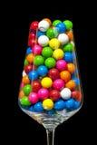 Primer de gumballs en una copa Fotos de archivo libres de regalías