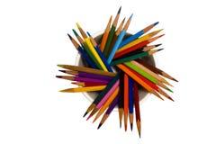 Muchos lápices Fotos de archivo libres de regalías