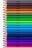 Muchos lápices coloreados Imágenes de archivo libres de regalías