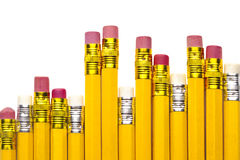 Muchos lápices del amarillo Fotos de archivo libres de regalías