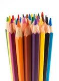 Muchos lápices del color Fotografía de archivo