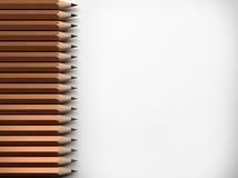 Muchos lápices, representación 3D Foto de archivo libre de regalías