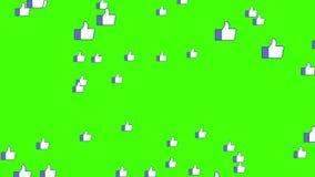 Muchos les gusta la explosión de los iconos del vídeo social de los medios de la red de la capa de la animación del fondo de la n ilustración del vector