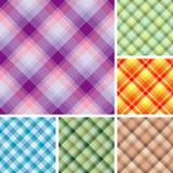 Muchos modelos inconsútiles de la tela escocesa fotografía de archivo libre de regalías