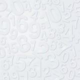Muchos números del blanco Foto de archivo