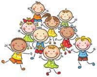 Muchos niños felices ilustración del vector