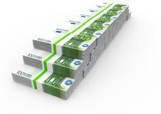Muchos paquetes del euro Foto de archivo libre de regalías