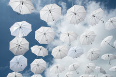 Muchos paraguas Imagen de archivo