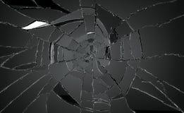 Muchos pedazos de vidrio quebrado o roto fotos de archivo