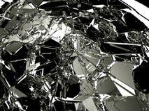 Muchos pedazos de vidrio quebrado y roto libre illustration