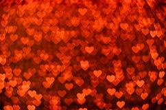 Muchos pequeños corazones que brillan intensamente Foto de archivo libre de regalías