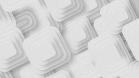 Muchos pequeños cuadrados blancos que se mueven desde izquierda diagonalmente, lazo almacen de metraje de vídeo
