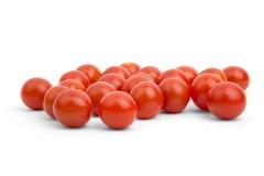 Muchos pequeños tomates de cereza Fotografía de archivo