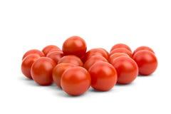 Muchos pequeños tomates de cereza Imagen de archivo