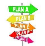 Muchos planes que repiensan estrategia planean muestras de B una C ilustración del vector