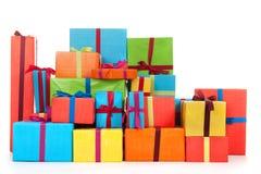 Muchos presentes foto de archivo libre de regalías