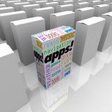 Muchos rectángulos de Apps - almacén programa para de aplicaciones ilustración del vector