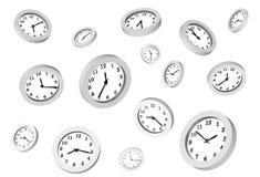 Muchos relojes Imagenes de archivo