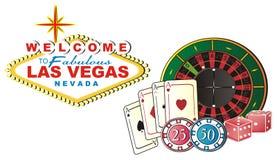 Muchos símbolos del casino Imagen de archivo
