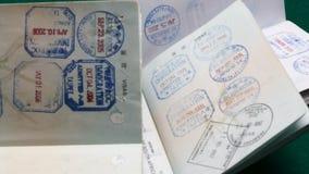 Muchos sellos de visa almacen de video