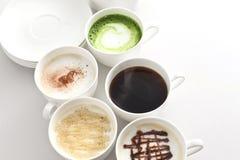 Muchos tipos de café Fotografía de archivo