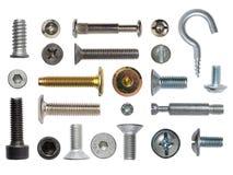 Muchos tornillos y tornillos Imagenes de archivo