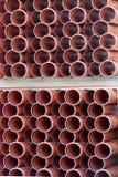 Muchos tubos del plástico Fotos de archivo