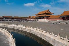 Muchos turistas en la ciudad Prohibida Imágenes de archivo libres de regalías