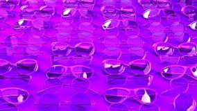 Muchos vidrios púrpuras