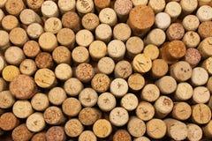 Muchos wine los corchos Foto de archivo