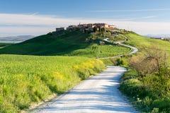 Mucigliani村庄,托斯卡纳,意大利 库存图片