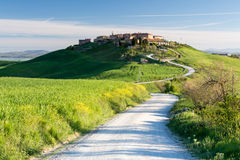 Muciglianidorp, Toscanië, Italië Stock Afbeeldingen
